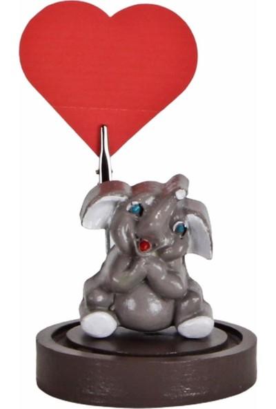 Hediyekanalı Sevimli Gri Fil Peluş Oyuncak 25 cm Fil Biblo Notluk Fil Tasarımlı Kupa Sevgiliye Hediye Seti