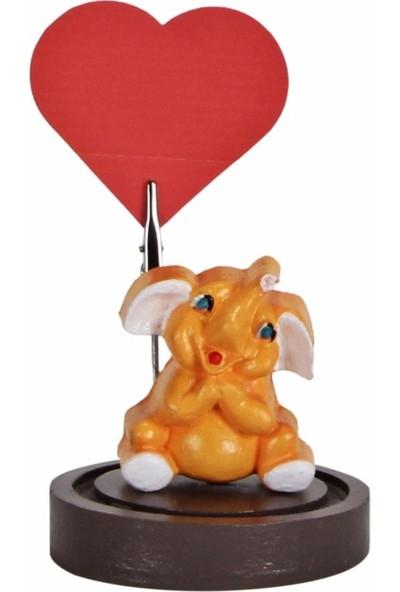 Hediyekanalı Sevimli Sarı Fil Peluş Oyuncak 25 cm Fil Biblo Notluk Fil Tasarımlı Kupa Sevgiliye Hediye Seti