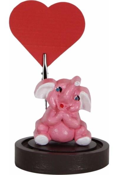 Hediyekanalı Sevimli Pembe Fil Peluş Oyuncak 25 cm Fil Notluk Fil Tasarımlı Kupa Sevgiliye Hediye Seti