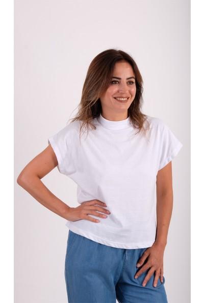 Crep Dik Yaka Basic Tshirt