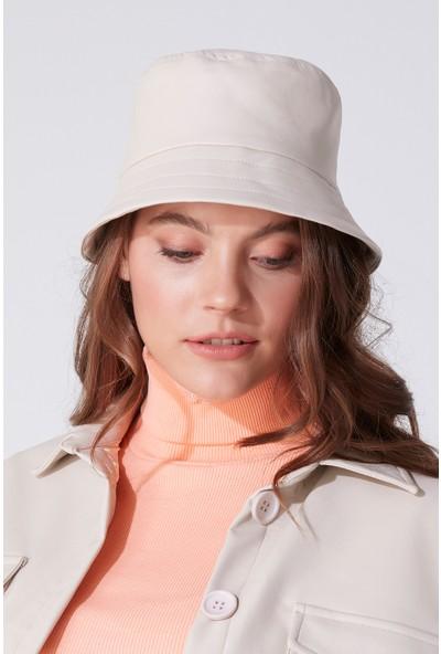 Deri Bucket Şapka