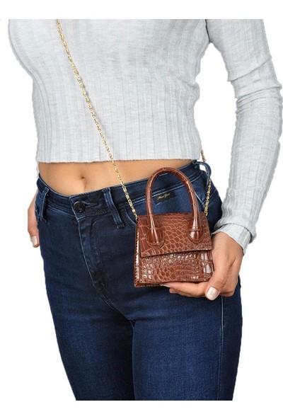 Capella Bag&belt Zincir ve Kemer Detaylı Saplı Mini Çanta