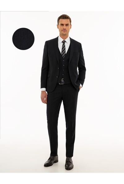 Pierre Cardin Lacivert Ekstra Slim Fit Yelekli Takım Elbise 50209070-VR033