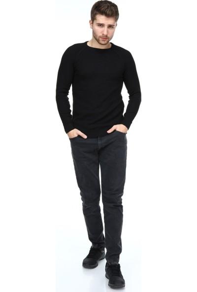 Trender 800 O Yaka Tam Reklan Erkek Kazak Siyah