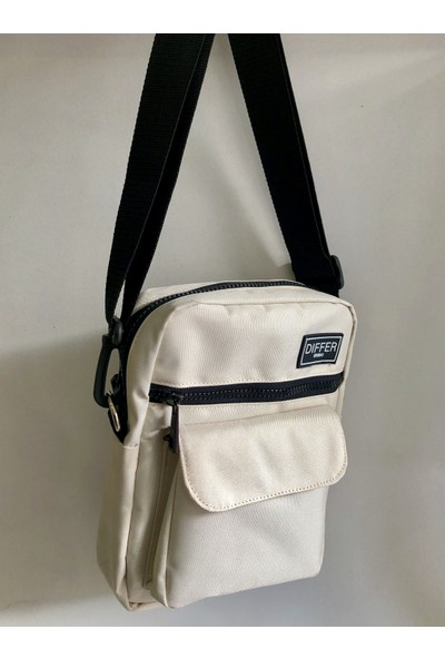 Differ Kırık Beyaz Omuz ve Çapraz Askılı Çanta Unisex