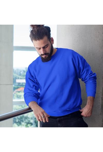Fandomya Antik Yunan Hephaestus Mavi Sweatshirt