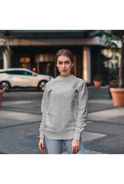 Fandomya Antik Yunan Hera Gri Sweatshirt