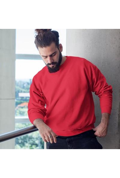 Fandomya Ikizler Burcu Kırmızı Sweatshirt
