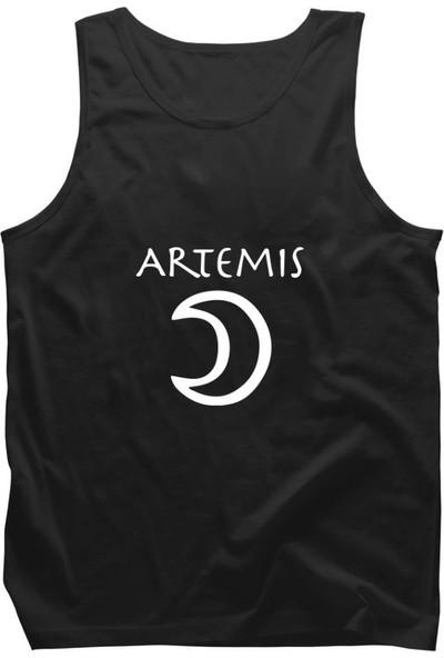 Fandomya Antik Yunan Artemis Siyah Askılı Atlet