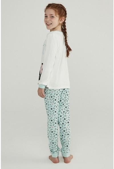 Penti Çok Renkli Kız Çocuk Sweetıe Termal 2li Pijama Takımı