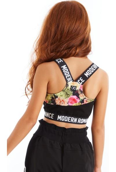 Colorinas Modern Romance Çiçek Desenli Crop Üst 5 Yaş