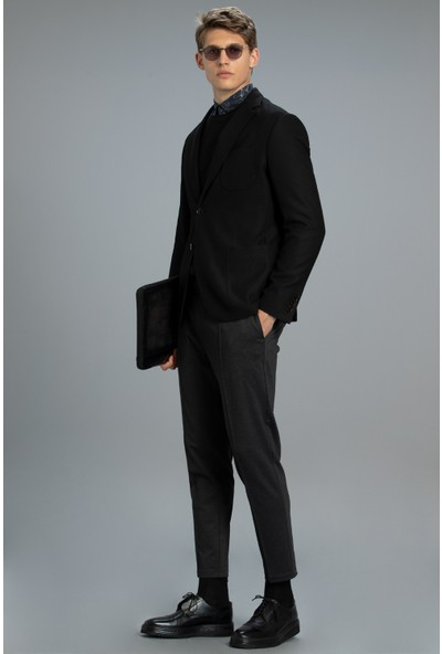 Lufian Taco Spor Blazer Ceket Slim Fit Siyah