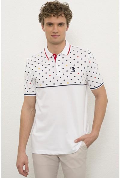 U.S. Polo Assn. Erkek Beyaz T-Shirt 50218770-VR013