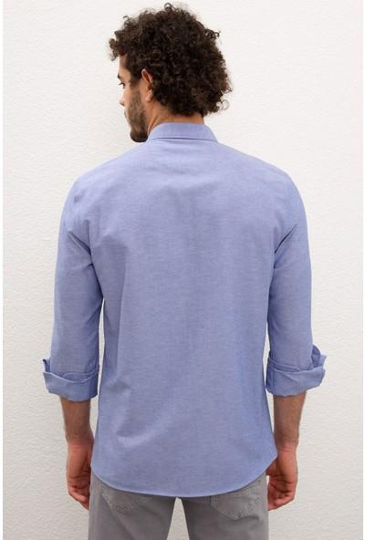 U.S. Polo Assn. Erkek Mavı Gömlek Uzunkol Basic 50233224-VR045