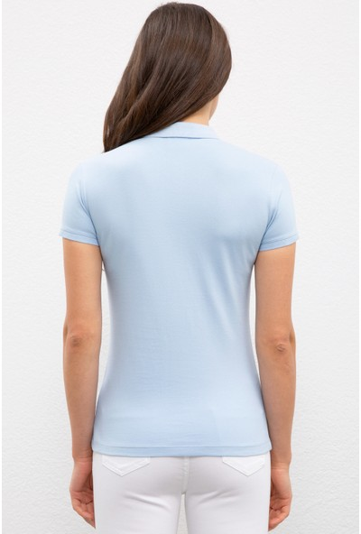 U.S. Polo Assn. Kadın Mavı T-Shirt Basic 50222743-VR036