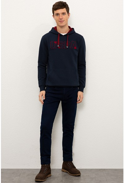 U.S. Polo Assn. Erkek Lacivert Sweatshirt Basic 50225500-VR033