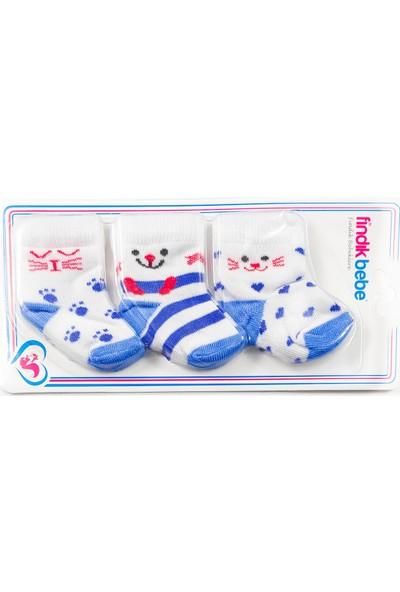 Fındık Bebe 3'lü Bebek Çorap