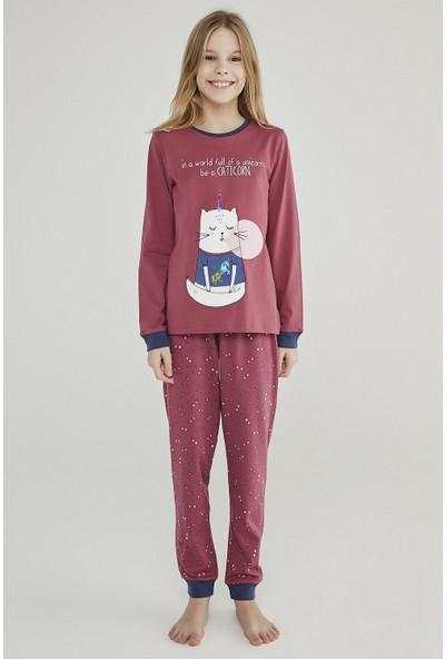 Penti Mor Teen Caticorn 2'li Pijama Takımı