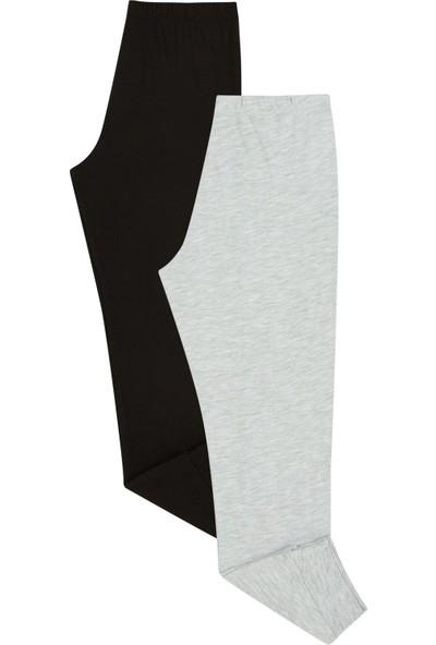 Penti Siyah - Açık Gri Melanj Çocuk Hot Tech 2'li Pantolon