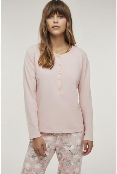 Penti Kadın Pembe Magnolia Rose Tişört