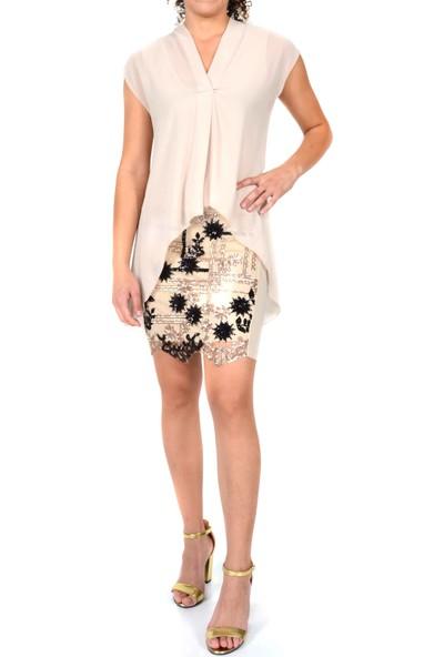 Roshe İşlemeli Kadın Elbise