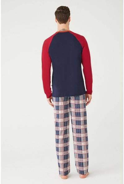 U.S. Polo Assn. Erkek Lacivert Yuvarlak Yaka Pijama Takımı M
