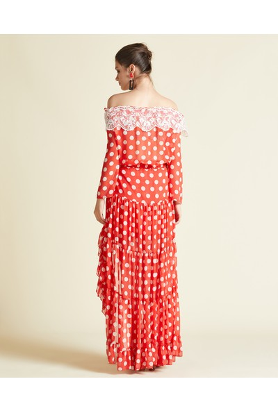 Serpil Puantiyeli Asimetrik Elbise