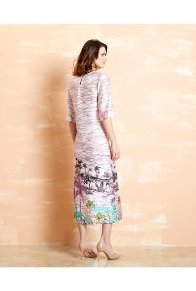 Serpil Floral Desenli Elbise