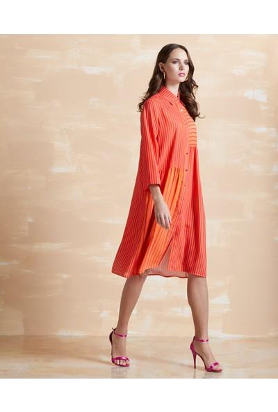 Serpil Çizgili Elbise