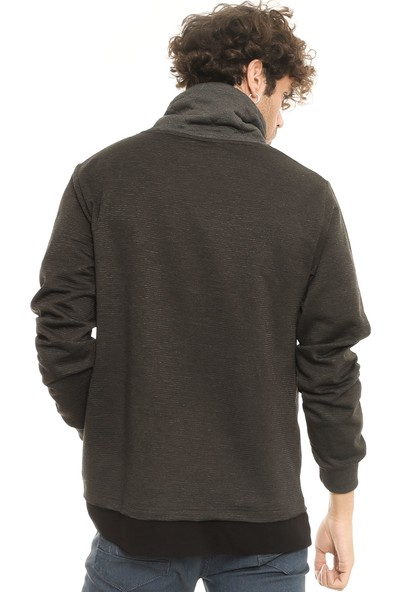 Cazador 5065 Boru Yaka Antrasit/Melanj Erkek Sweatshirt