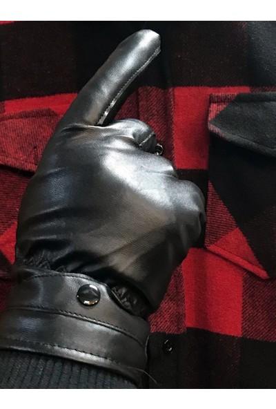Işnar Moda Erkek Suni Deri Eldiven Dokunmatik Ekran Uyumlu MG100NY