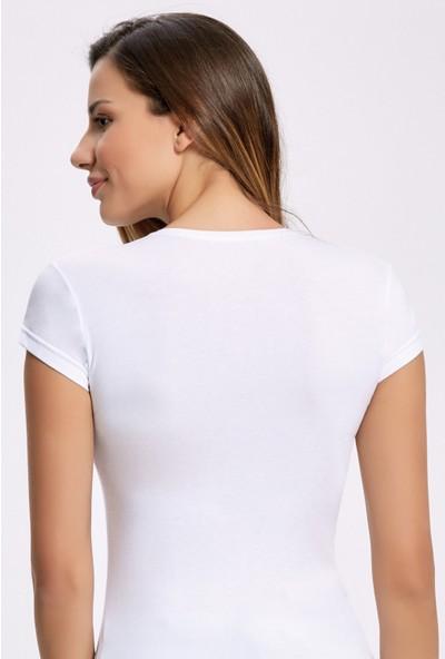 İlke İç Giyim 2260 Likralı O Yaka T-Shirt 3 Adet
