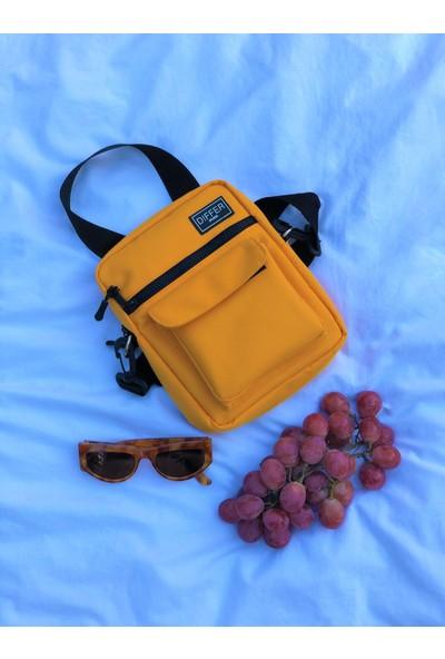 Differ Hardal Sarı Omuz Çapraz Askılı Çanta