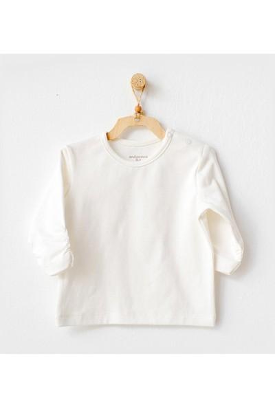 Andywawa Meow Bebek T-Shirt AC21247 Ekru 0 - 3 Ay
