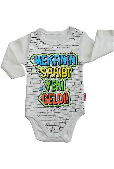 Lullaby Kız ve Erkek Bebek Uzun Kollu Çıtçıtlı Badi Baskılı Penye Body