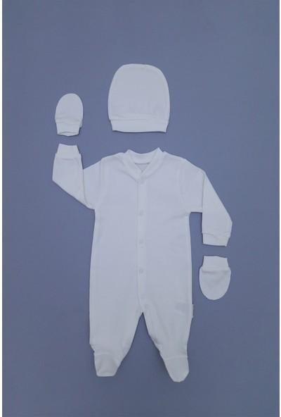 Necix's Süper Kalite Kız/erkek Bebek 3'lü Tulumlu Takım
