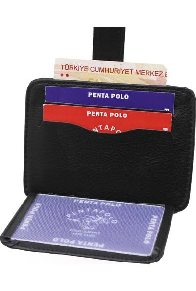 Penta Polo Carlino Üstten Patlı Mini Kartlık Cüzdan Yan Model
