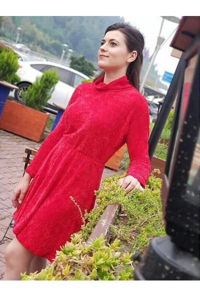 Newton Kırmızı Kadife Elbise