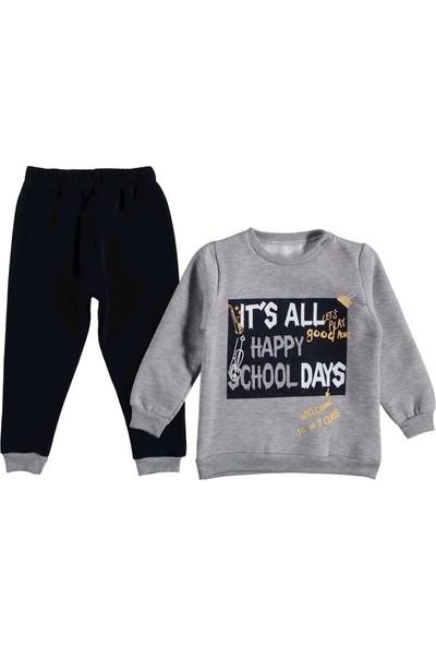 Moyes Kids School Baskılı Üç Ip Polarlı Takım Gri