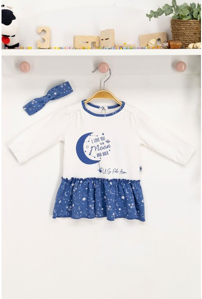 U.s. Polo Assn Lisanslı Indigo Bebek Elbise