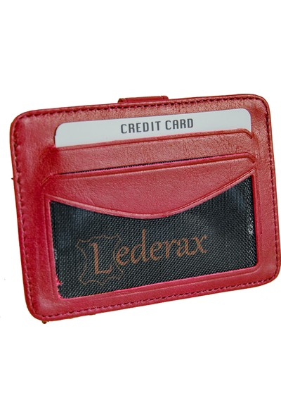 Lederax LDH10C Hakiki Deri Kartlık Cüzdan 10 Bölmeli
