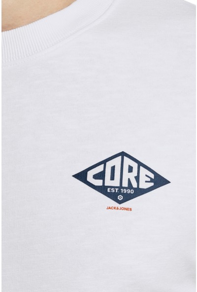 Jack & Jones Core Jcoroad Sweat Erkek Sweat 12167237 Beyaz S