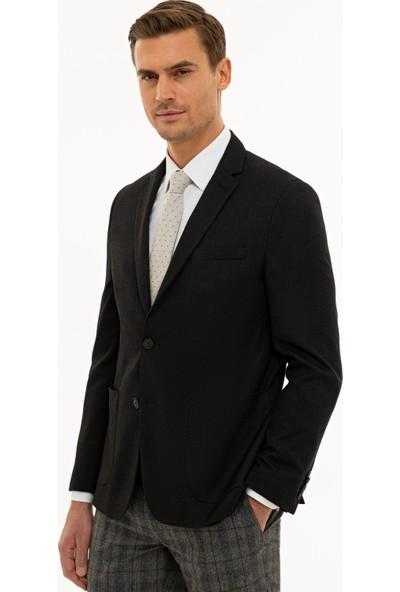 Pierre Cardin Erkek Siyah Slim Fit Ceket 50230071-VR046