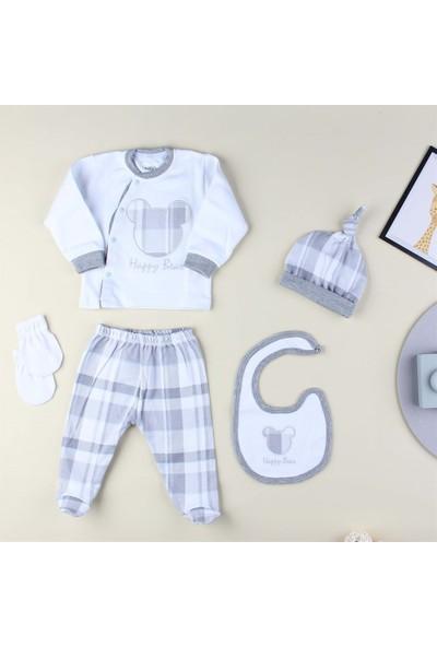 Aziz Bebe Happy Bear 5'Li Hastane Çıkışı Seti