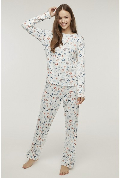 Penti Çok Renkli Warm Me Up Termal Pijama Takımı