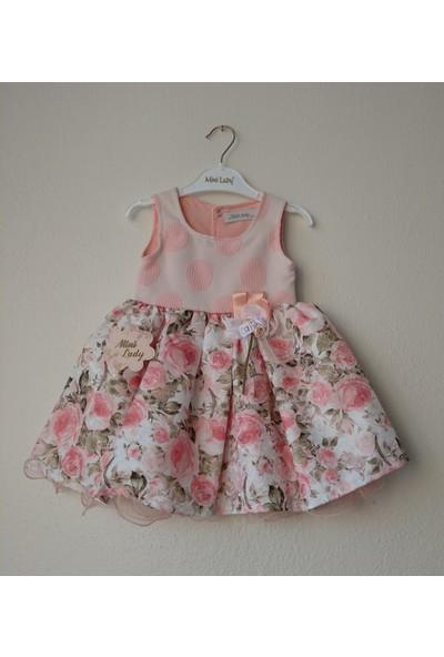 Confidence Dijital Etek Baharlık Kız Elbise
