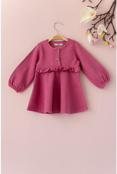 Cigit Fırfırlı Özel Kumaş Elbise