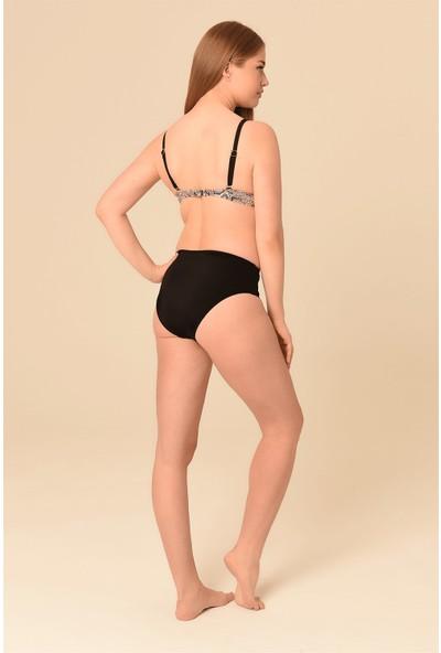 Aquaviva Kadın Yılan Desen Büyük Beden Kaplı Bikini Takımı