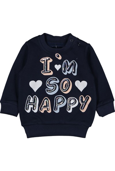 Patili Kids I'm So Happy Payetli 6-18 Ay Eşofman Takım