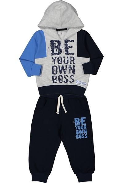 Miss Bella Patili Kids Kapşonlu Be Your Own Boss Baskılı Mevsimlik 6-24 Aylık Eşofman Takım